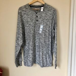 NWT Old Navy Thermal Henley Long Sleeve